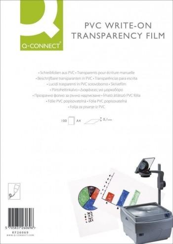 C/ 100 H. TRANSPARENCIAS ESCRITURA MANUAL Q-CONNECT KF26069 COD 25193