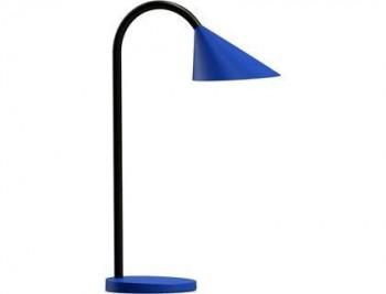 LAMPARA DE ESCRITORIO UNILUX SOL LED 4W BRAZO FLEXIBLE ABS Y METAL AZUL BASE 14 CM DIAMETRO COD 1543