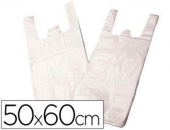 BOLSA PLASTICO CAMISETA BIODEGRADABLE 50 X 60 COD. 63748