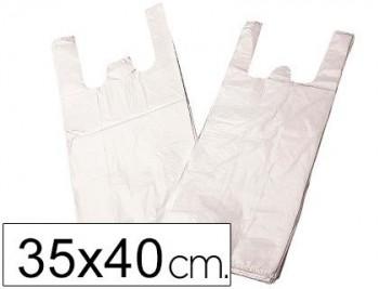BOLSA PLASTICO CAMISETA 35X40 CM -PAQUETE 200