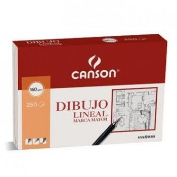 PAPEL DIBUJO MARCA MAYOR A4 210X297 -160 GR -SIN RECUADRO CANSON 200401404