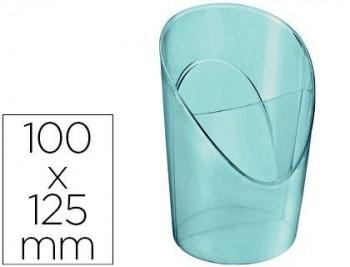 CUBILETE PORTALAPICES ESSELTE PLASTICO COLOUR ICE COLOR AZUL 100X125X90 MM