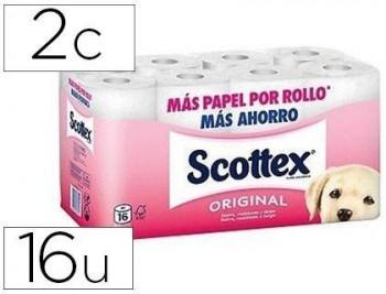 PAPEL HIGIENICO SCOTTEX 2 CAPA S ORIGINAL PAQUETE 16 ROLLOS COD 70002