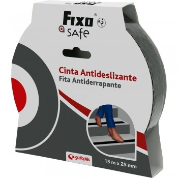 CINTA ANTIDESLIZANTE FIXO SAFE 15MX25MM GRAFOPLAS