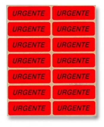 BLISTER 70 ETIQUETAS AUTOADHESIVAS URGENTE APLI REF 329