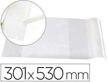FORRALIBRO LIDERPAPEL Nº30 CON SOLAPA AJUSTABLE ADHESIVO 301 X 530 MM