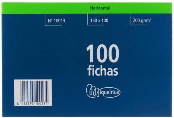 FICHA RAYADA MIQUELRIUS Nº3 100X150MM PAQUETE DE 100