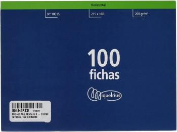 FICHA RAYADA MIQUELRIUS Nº5 215X160 MM PAQUETE DE 100