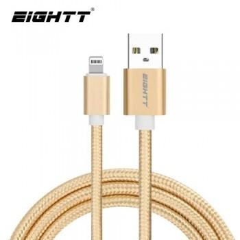 CABLE USB A IPHONE - 1.0M EIGHTT- TRENZADO DE NYLON COLOR ORO
