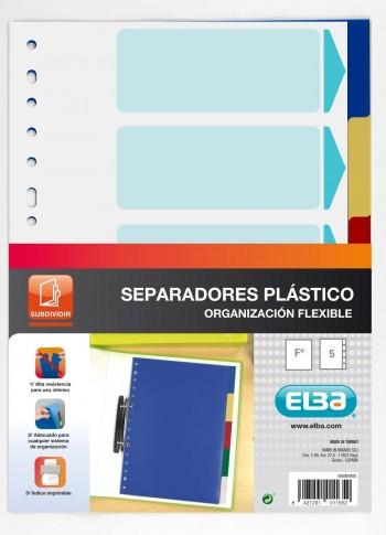 JUEGO SEPARADORES FOLIO 5 COLORES P.P. ELBA RF 400068998