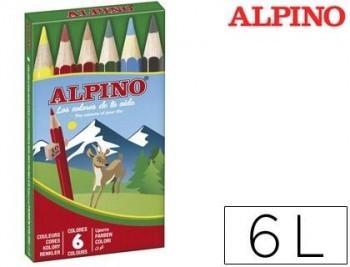 LAPICES DE COLORES ALPINO 651 C/DE 6 COLORES CORTOS COD 28324