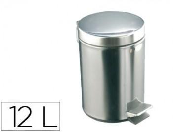 PAPELERA CON PEDAL ACERO INOXIDABLE BRILLO 12 L 400X250X300 MM COD 155331
