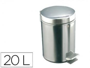 PAPELERA CON PEDAL ACERO INOXIDABLE BRILLO 20 L 435X295X350 MM COD 155332