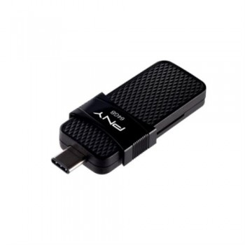 PENDRIVE PNY DUO LINK 64GB USB-C 3.1 COLOR NEGRO