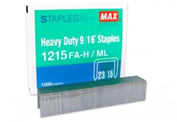 CAJA 1.000 GRAPAS 23/15 MAX HEAVY DUTY 9/16\c