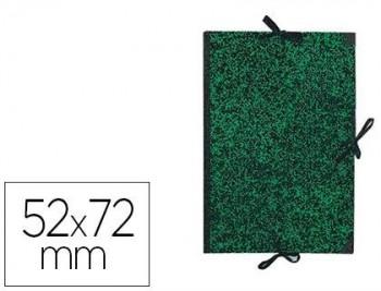 CARPETA DIBUJO CANSON CLASSIC 52X72 CM CON LAZOS MARMOL VERDE COD 150148