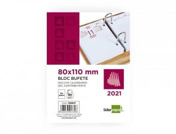 BLOC BUFETE LIDERPAPEL 80X110 MM 2021 PAPEL 80 GR TEXTO EN CASTELLANO COD 159637