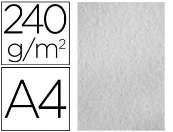 PAPEL COLOR LIDERPAPEL PERGAMINO A4 240G/M2 GRIS PACK DE 25 HOJAS COD 64713