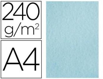 PAPEL COLOR LIDERPAPEL PERGAMINO A4 240G/M2 AZUL PACK DE 25 HOJAS COD 64714