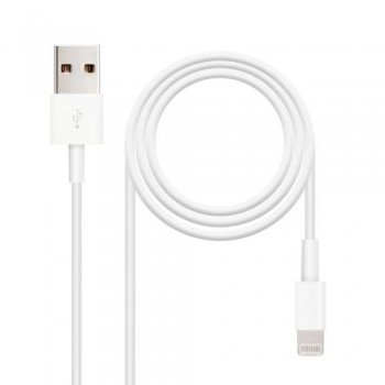 CABLE USB A IPHONE LIGHTNING USB A/M- 2.0M NANOCABLE COLOR BLANCO