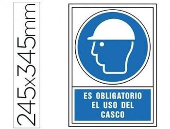 PICTOGRAMA SYSSA SEÑAL DE OBLIGACION ES OBLIGATORIO EL USO DE CASCO EN PVC 245X345 MM COD 76028
