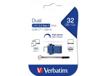PENDRIVE VERBATIM DUAL 32GB USB TIPO C / USB 3.0