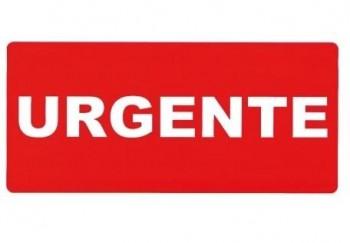 ROLLO 1.000 ETIQUETAS ADHESIVAS ENVIO URGENTE 13X40 MM INETA