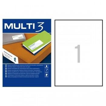 C/ 100 HOJAS ETIQUETAS 210X297 MULTI 3 RF 04714