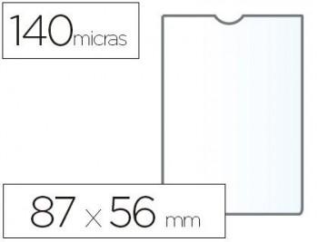 C/ 100 FUNDAS PORTACARNETS 60Q NIF 87X56 MM PVC TRANSPARENTE 140 MICRAS ESSELTE RF. 46001
