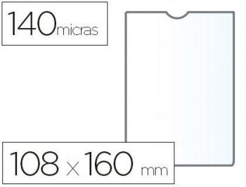 C/ 100 FUNDAS PORTACARNETS 105Q 108X160 MM PVC TRANSPARENTE 140 MICRAS ESSELTE RF. 46007