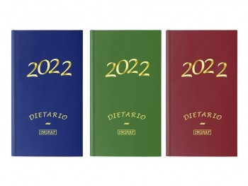DIETARIO INGRAF 15X30 CM 2022 DOS TERCIOS PAPEL 70 GR COLORES SURTIDOS