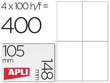 C/ 100 H. ETIQUETAS BLANCAS ILC 105,0 X 148,0 APLI RF 1280