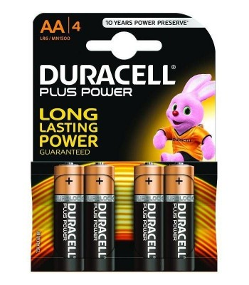BLISTER 4 PILAS DURACELL PLUS POWER LR06 AA