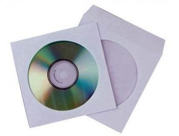 SOBRE PARA CD Q-CONNECT CON VENTANA TRANSPARENTE Y SOLAPA -PACK DE 50 UNIDADES COD. 31728