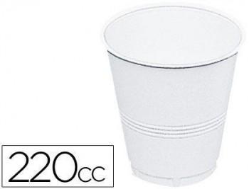 VASO DE PLASTICO BLANCO 220 CC PAQUETE 100 COD. 28089