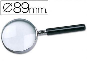 LUPA CRISTAL ARO METALICO MANGO NEGRO W-105 89 MM COD. 24465