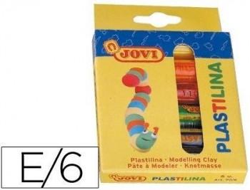 ESTUCHE 6 BARRAS DE PLASTILINA  JOVI COD. 06203