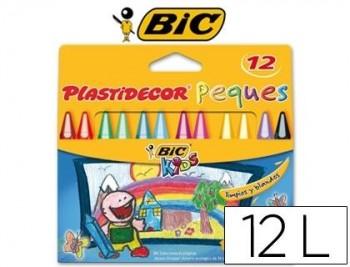 LAPICES PLASTIDECOR PEQUES CAJA DE 12 COLORES COD. 27269