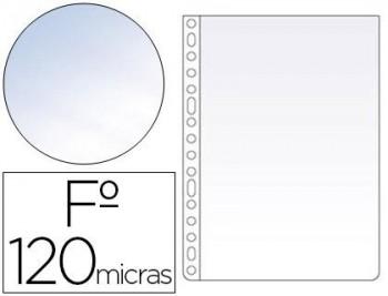 C/ 100 FUNDAS FOLIO PLASTICO 16 TALADROS LISO CRISTAL ESSELTE RF 46101