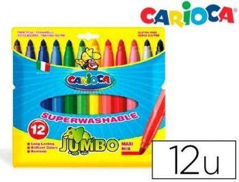 ROTULADOR CARIOCA JUMBO C/12 COLORES -PUNTA GRUESA COD. 07535