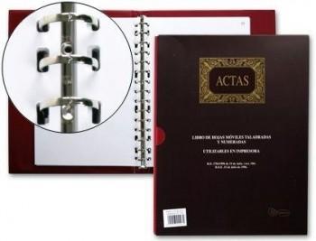 LIBRO MIQUELRIUS DIN A4 -ACTAS -CON 100 HOJAS MOVIBLES COD. 20575